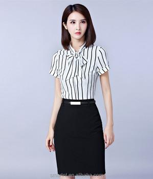 fccc3e8081 Verano traje de mujer blusa traje de falda para dama elegante oficina  trabajo uniforme