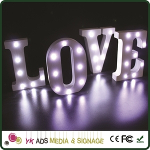 marquee light love wedding Customized Letter Sign