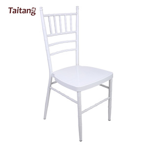 High quality stacking white party Wedding chair with fixed cushion