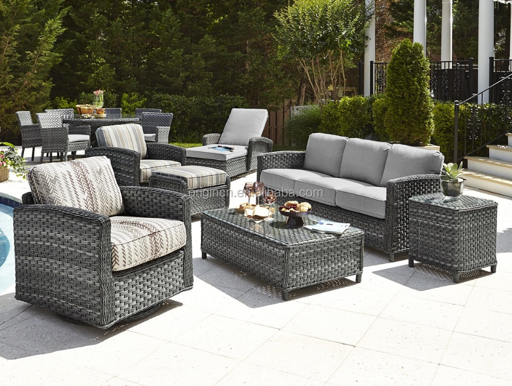 Exotic style gorgeous home casual outdoor lounge sofa set garden rattan  furniture spain. Exotic Style Gorgeous Home Casual Outdoor Lounge Sofa Set Garden