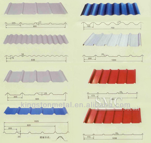 Color corrugated roofing sheets metal fabrication
