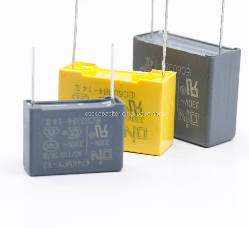 UL ENEC VDE listed MKP X2 film capacitor 100nf 300vclass mkp UL VDE ENEC CQC certificate.