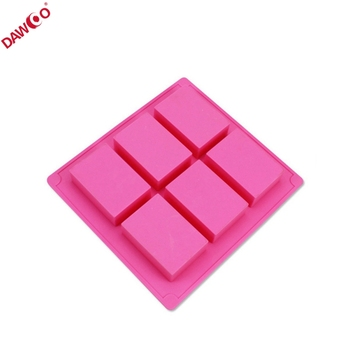 Oem Rectangle Custom Handmade Silicone Soap Molds Silicone Mold For