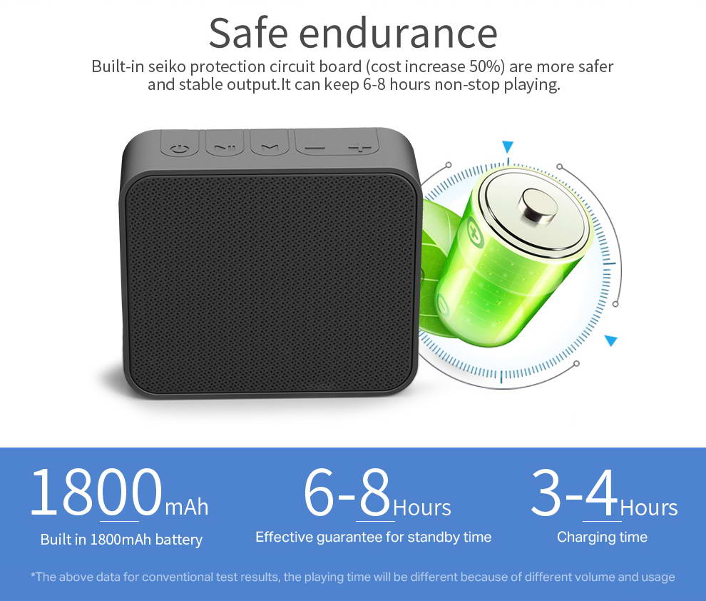 New arrival best 6watt wireless bluetooth speaker for ipad
