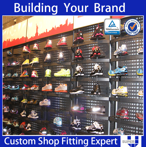 Wooden Shoe Expanders Sport Shoes Display Rack With Metal Shoe ...