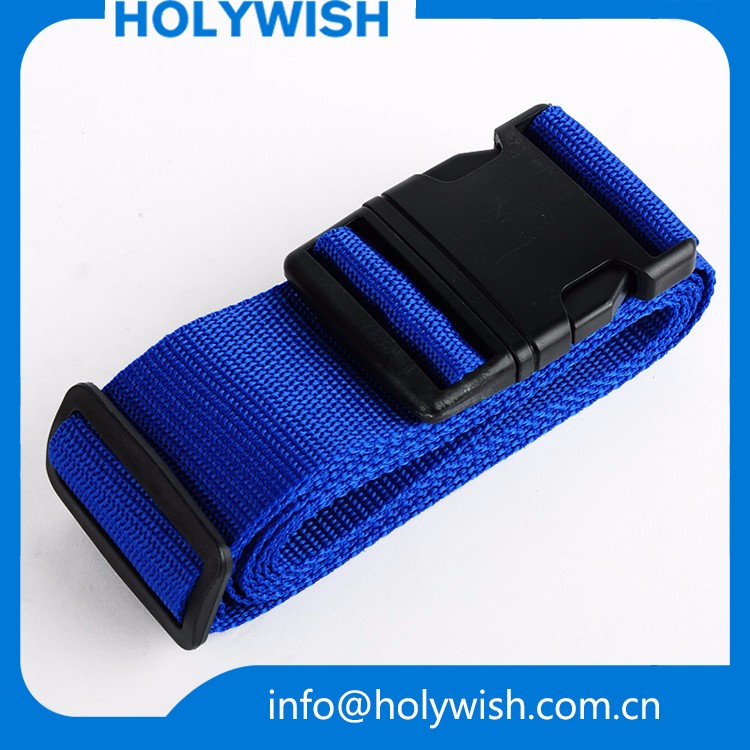 Free design wholesale polyester travel luggage belt with custom <strong>logo</strong>
