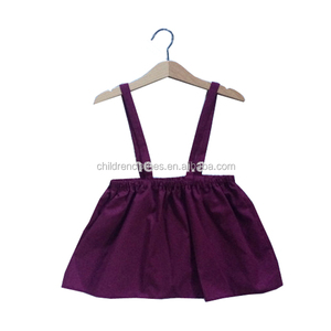 Purple Baby Skirt Suspenders Frock Dress Girls Mini Clothing With Braces