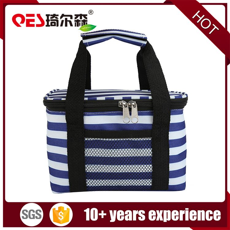 Blue and white stripe design for sale cans ice coolers promotional pack can cooler bag