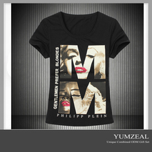 ladies new design t shirt/design your own t shirt/girls printed t shirts