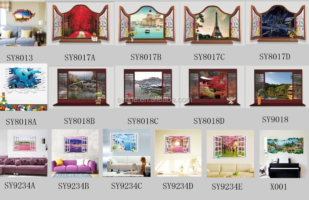 Hot siene 3d adesivi per pavimenti blue sea beach wall stickers