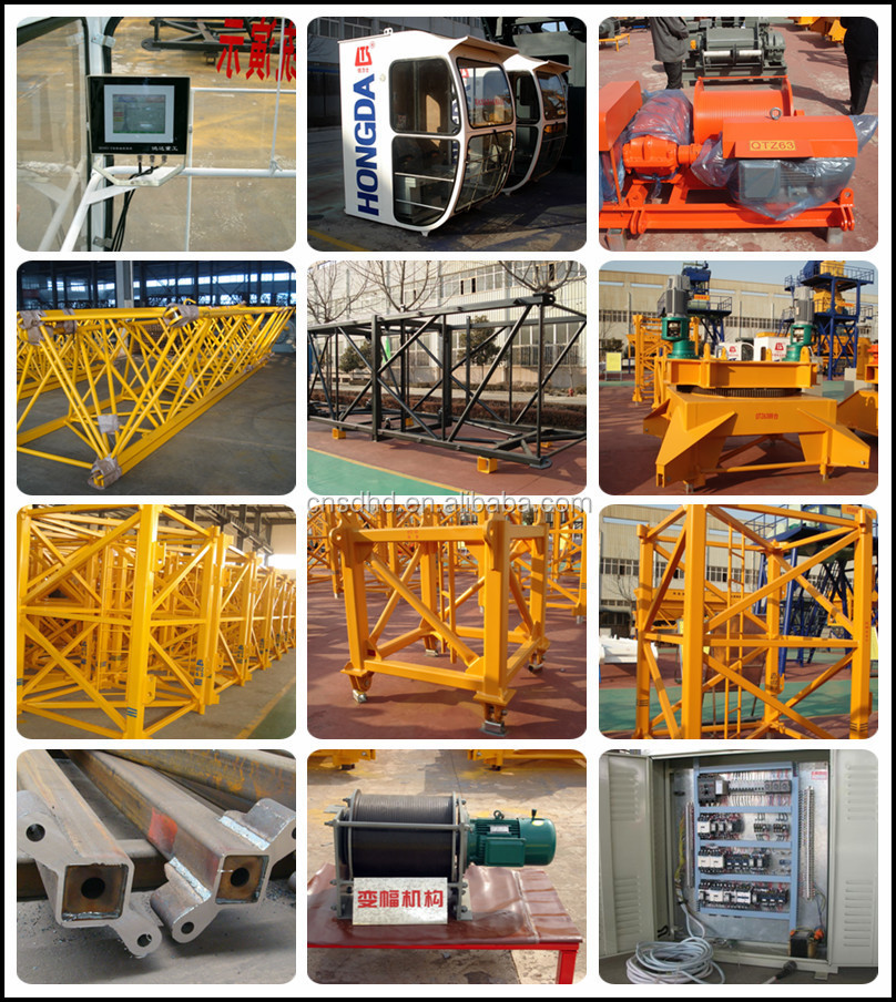 Building Construction 6ton Manual Luffing Tower Crane Price