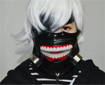 Hot Anime Tokyo Ghoul Cosplay Mask Ken Kaneki Cool Halloween Party