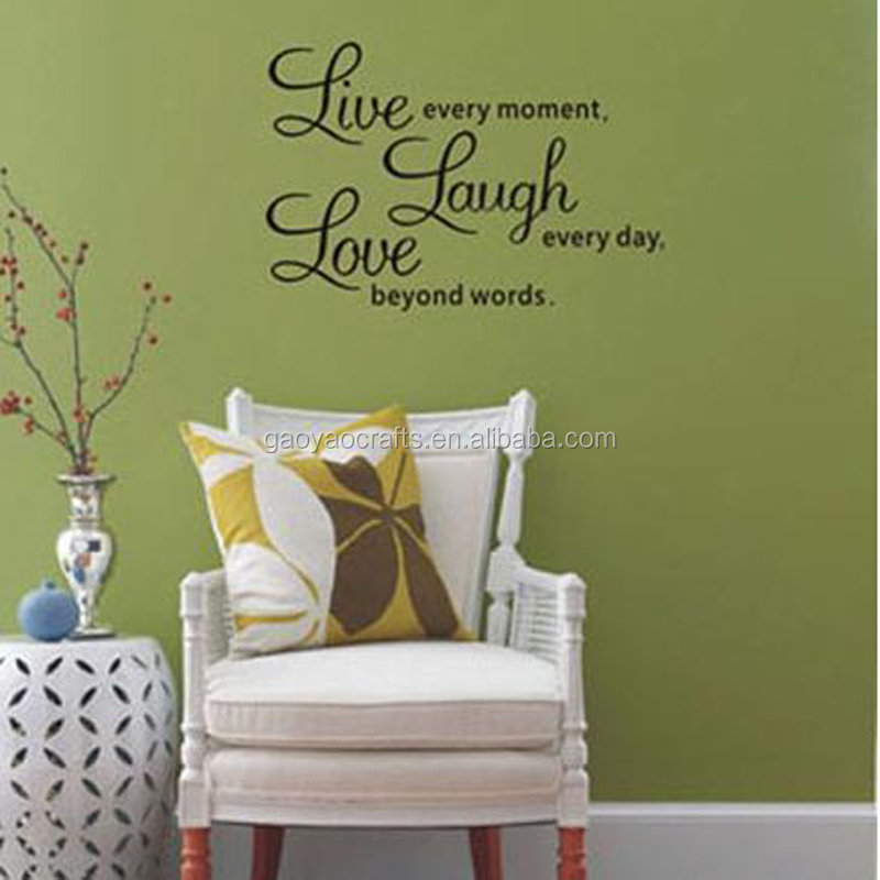 Live laugh love quotes home decoraties adesivo de paredes verwijderbare DIY muurstickers