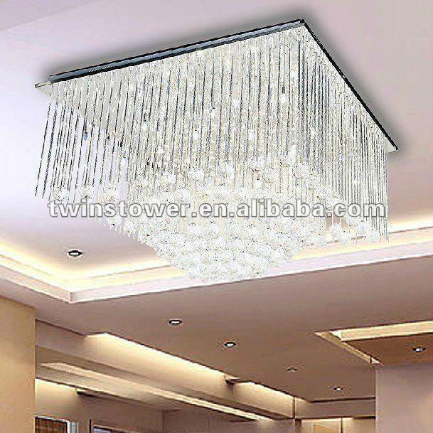 2012 falso techo moderna lámpara/bola de cristal colgando light ...