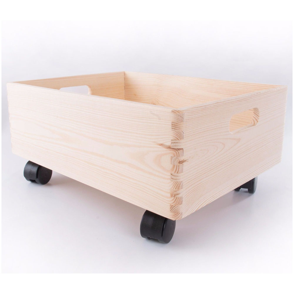 Plain <strong>Wood</strong> Large with Lid Storage Boxes Crate Trunk Containers