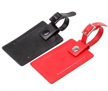 Leather Luggage Tag Wedding Party Favor Anti Theft Anti Lost ...