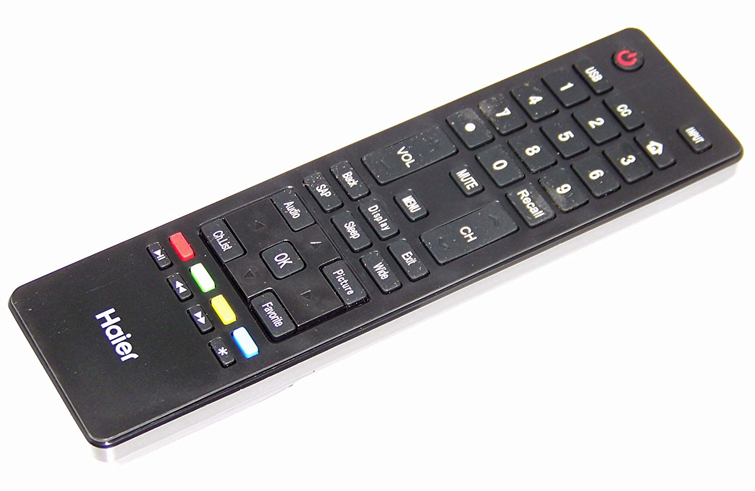 OEM Haier Remote Control Originally Shipped with: 55DR3505A, LE46H32800B, LE50H3280C
