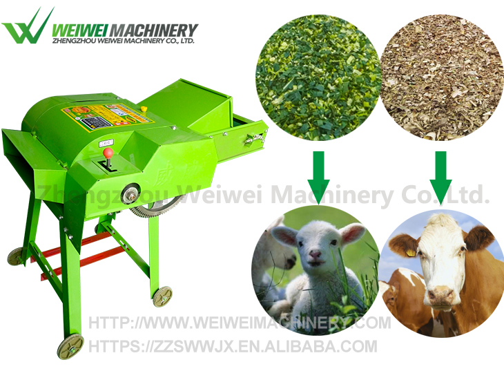 Weiwei 9ZP hay straw chopper silage distribution crop cutter machine