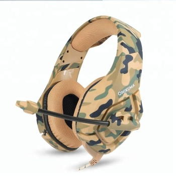 ONIKUMA K1 Camouflage PS4 3.5mm Jack Bass Gaming Headphones Game Earphones with Mic for PC Mobile Phone New Xbox One Tablet
