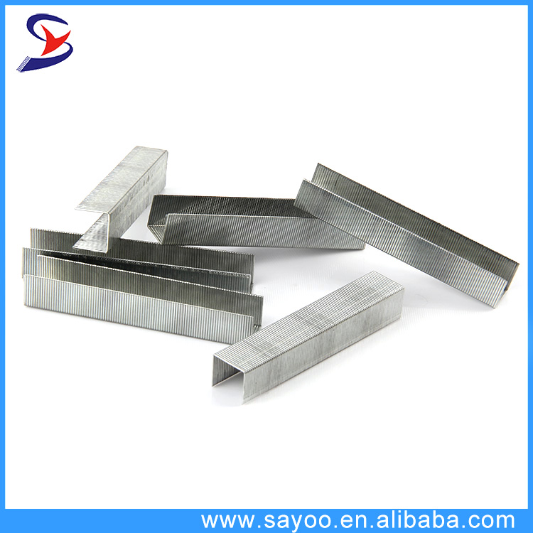 Silver color galvanized standard office 26/6 staples