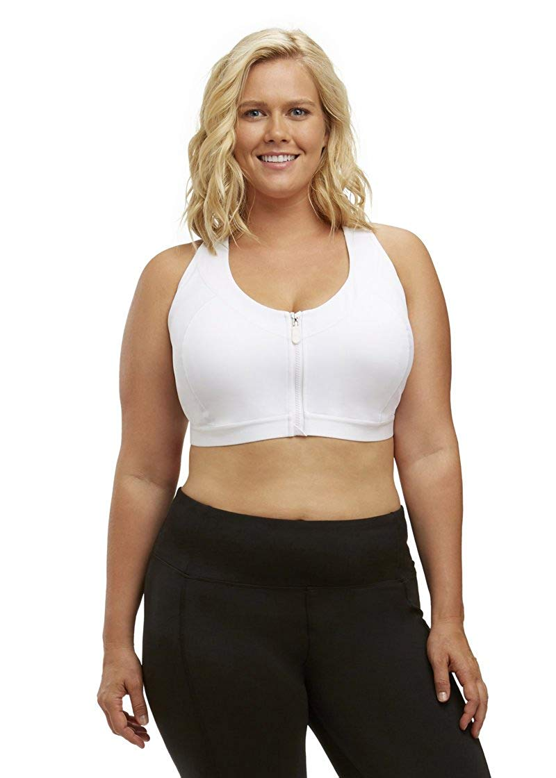 95a0c9ed97b11 Get Quotations · Marika Curves Women s Plus Size Sierra Sports Bra White Sports  Bra 38D