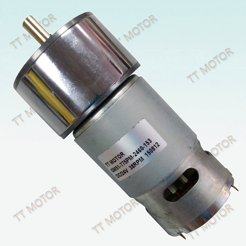 775 12v dc motor high torque 1500rpm with spur gearbox for Dc motor high torque