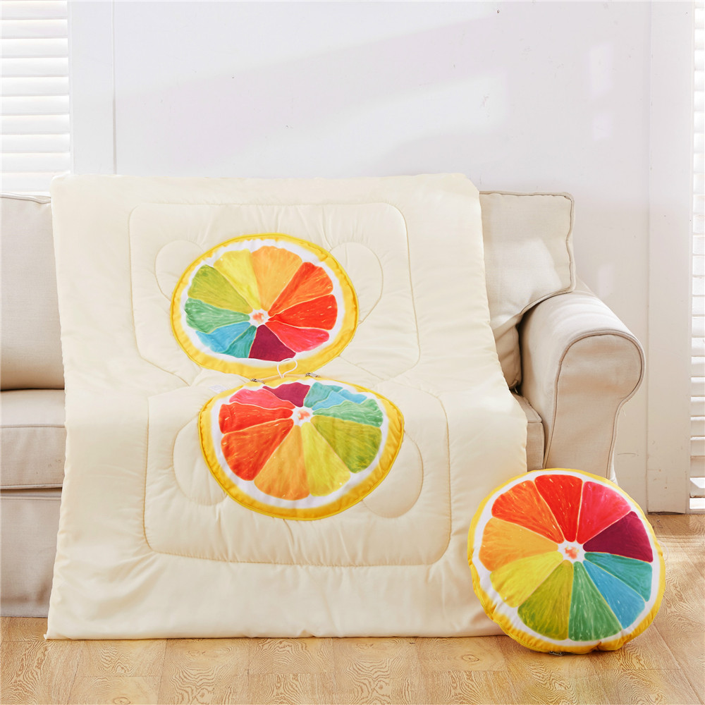 2017 Top Sale Popular Fruit Pillow Cotton Quilt Cover Car Sofa Cushion Summer Quilt