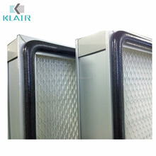 Clean room air handling units AHU mini pleated hepa filters for pharmaceutical plant