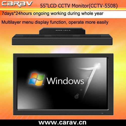 55inch LCD Industrial CCTV Monitor with BNC/VGA/RCA
