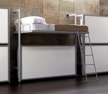Modern Custom Metal Wall Mounted Bunk Bed Storage