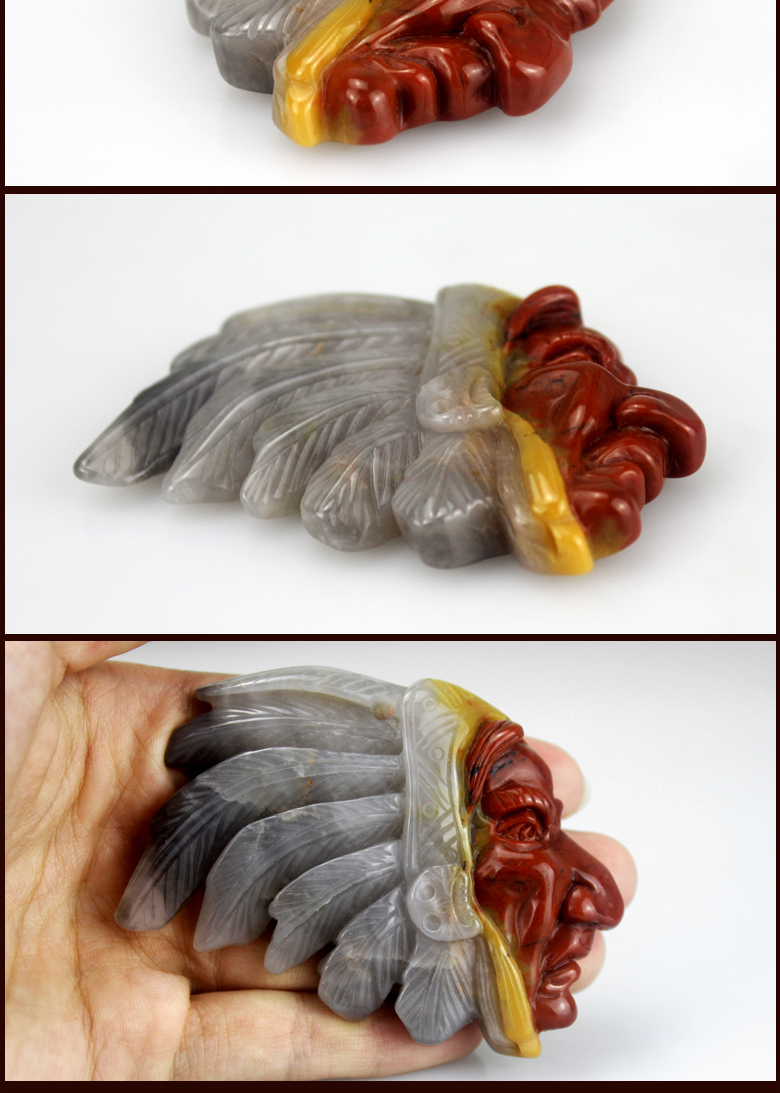 agate pendant pendant indian head carving for gift craft