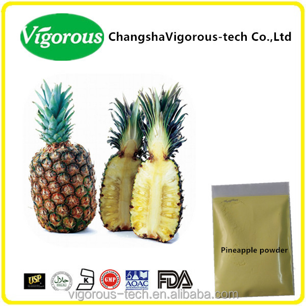 100% Natrual Stem pineapple extract organic papain bromelain powder