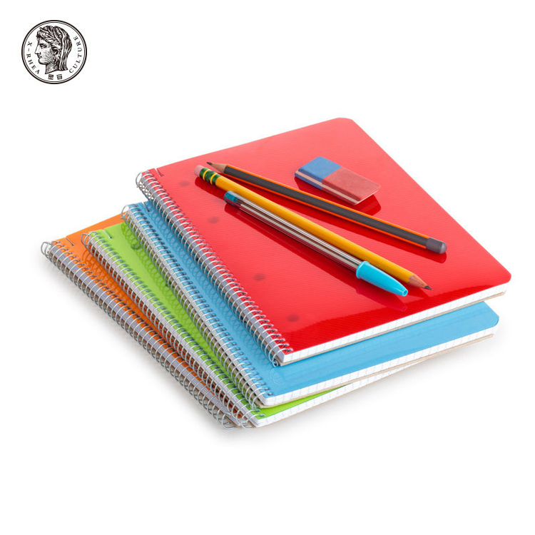 School Supplier Plastic Cover Plain Fancy Spiral Notebook