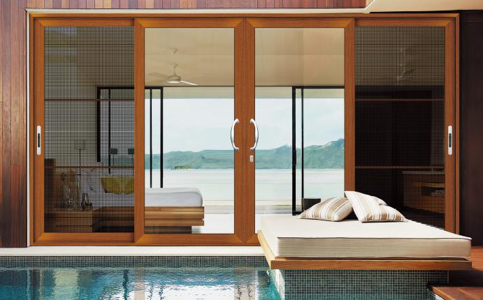 China Leveranciers Moderne Huis Schuifdeur Met Klamboe