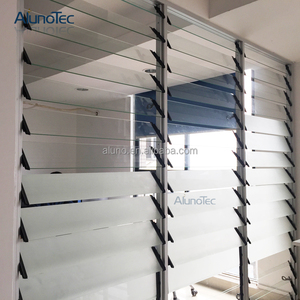 Economy aluminum bathroom louvers windows with glass shutters