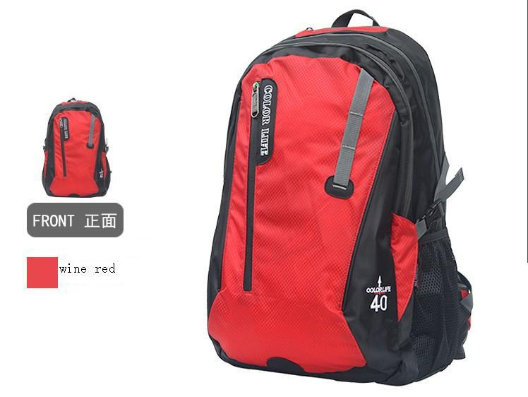 Color life 40L Shoulders Waterproof Outdoor Climbing Package Computer Bag Giving Nylon Waterproof Cover Five Color Can Choose