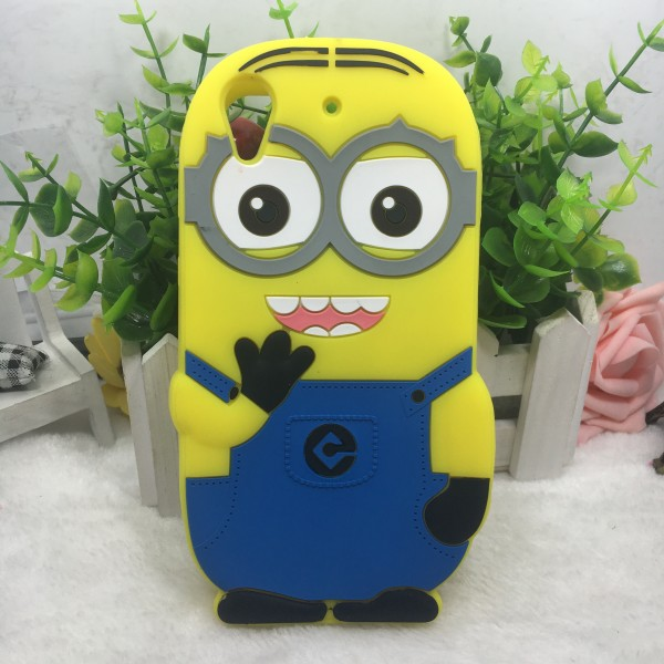 3d cartoon minions Silicone cell phone case for htc 626