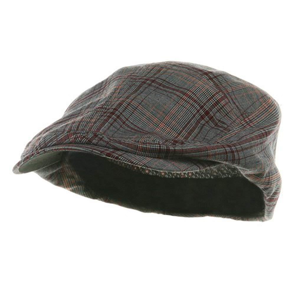 c981189308c Get Quotations · Mega Cap Mens Ivy Newsboy Cap Hat (Red Plaid
