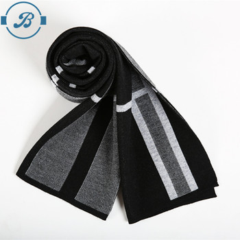 European style Luxury men's business casual thick wool scarves imitation cashmere scarves Wrap Warm