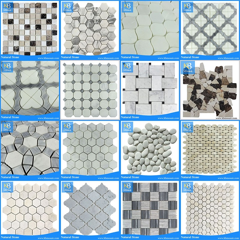 Spanish Tile And Marble Mosaic Cream Beige Marble Tile Creamy White