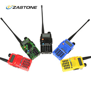 Amateur handy two way radio ZASTONE V8 UHF/VHF dual band with 128CH ham walkie talkie fm military band transceiver