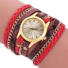 Женские кварцевые часы Geneva, роскошный бренд JW, браслет под старину, тканые леопардовые золотые наручные часы xfcs, 2020(Китай)