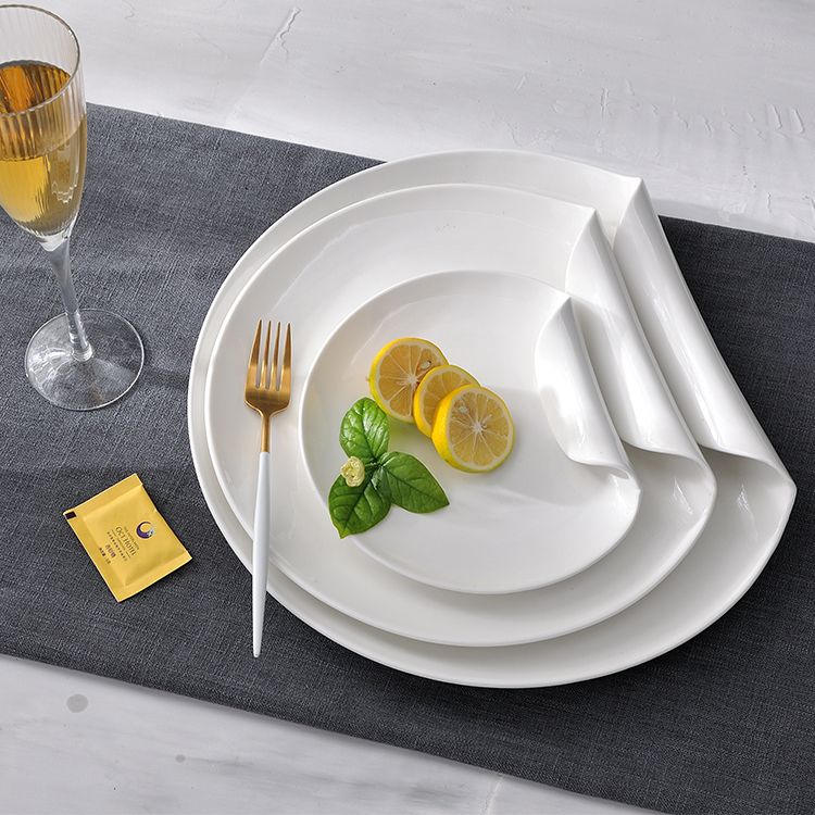 Royal Ware Ronde Wit Porselein Keramische Diner Platen Sets Servies voor Restaurant