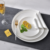 Royal Ware Round White Porcelain Ceramic Dinner Plates Sets Dinnerware for Restaurant