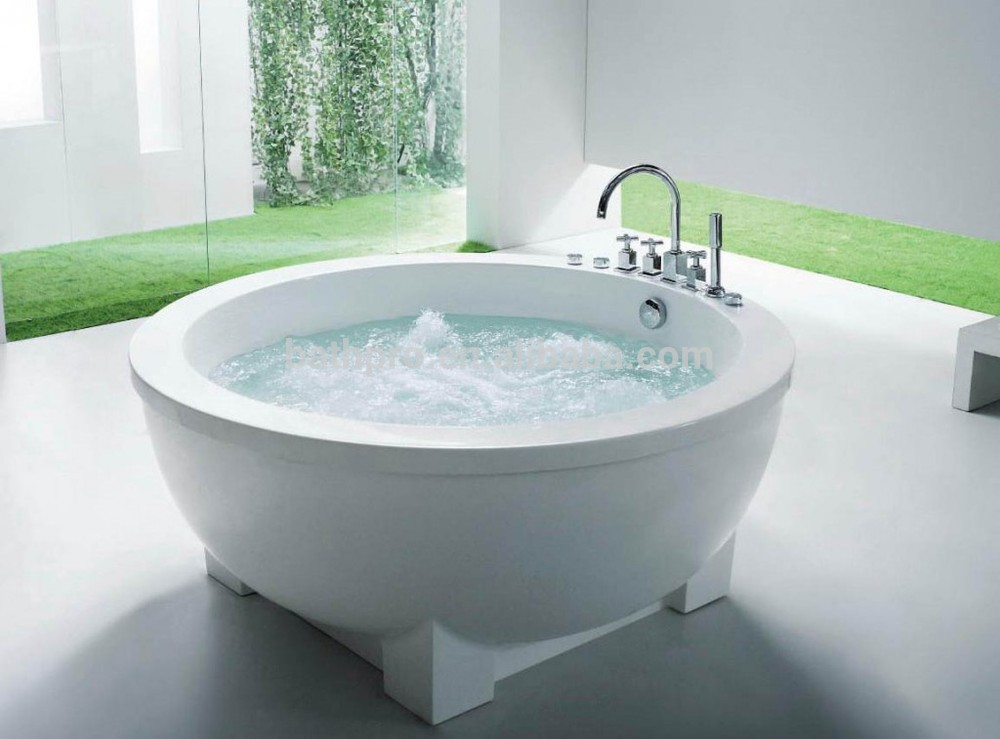 Freestanding Pure White Acrylic Small Round Bathtub (R8002)
