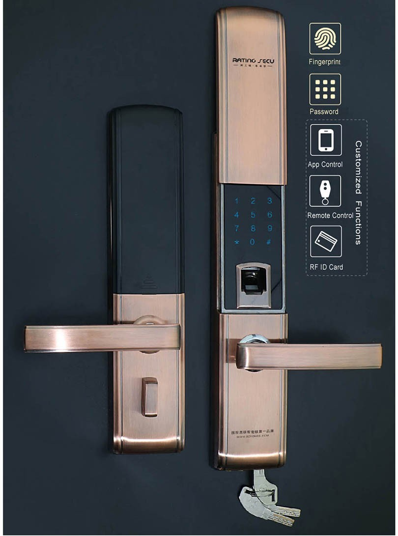 Biometric Digital Wireless Card Key Fingerprint Sliding