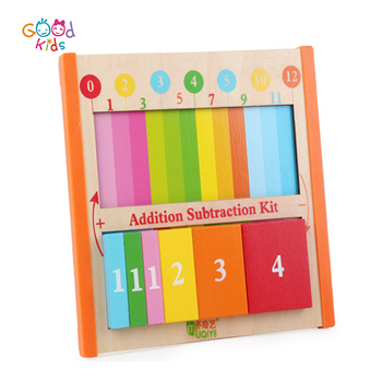 Wooden Toys Preschool Kids Learning Mathermatics And Science Learning Board