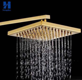 8inch Luxury Gold Bathroom Rain Shower Head Ceiling Mounted Shower Head