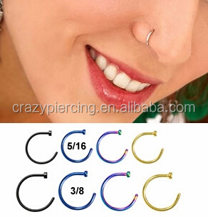Easy Fit Open Magnetic Nose Stud Designs Of Nose Hoop Rings