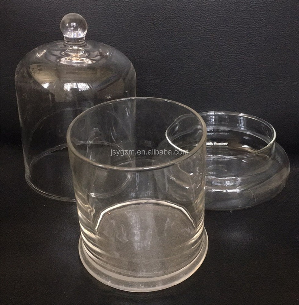 hot sale clear glass vase for flowers clear glass storage jar for dry fruit with lid